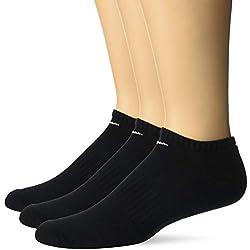 Nike Everyday Cushion No-Show Training Socks (3 Pair) Calcetines, Unisex Adulto, Blanco/Negro, Extra-Large