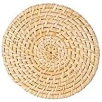 Bamboo Hot Pot Stand 5.9 Inches Small Size Round Rattan
