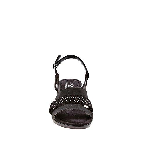 Easy Street Bruzio Femmes Large Toile Sandale Black