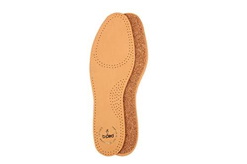 biped Ledereinlegesohlen mit echtem Naturkork - Einlegesohlen aus pflanzlich gegerbtem Leder z2229 (46)