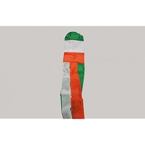 """152,40 cm (60"""") 2,3 m, in Nylon, motivo: bandiera tricolore irlandese Irish Flag Pole aperto Speed-Indicatore di direzione"""