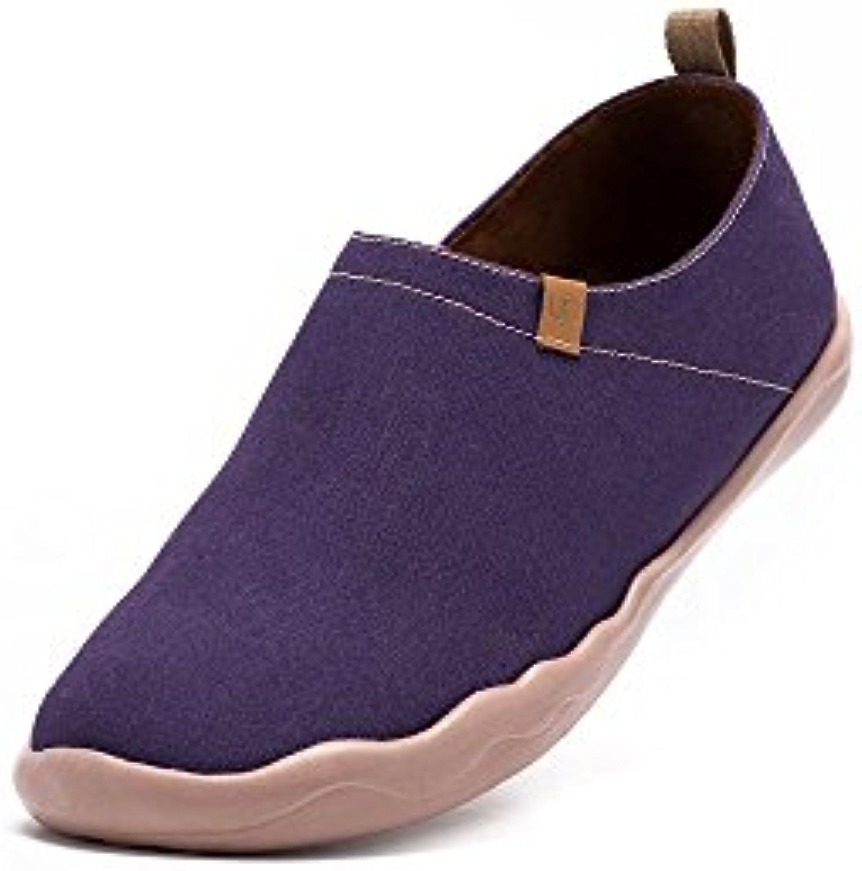 UIN color morado oscuro Zapato de lona impresa morado para los hombres