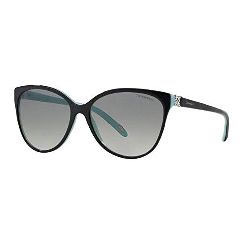 Tiffany & co. 0ty4089b 80553c 58 occhiali da sole, nero (black/blue/gray gradient), donna