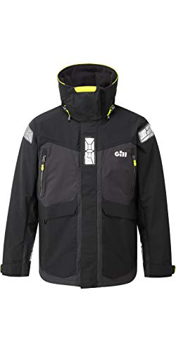Gill Thermal (Gill OS2 Herren Offshore Sailing Yacht Coat Jacket Schwarz - Thermal Warm Heat Layer-Schichten Leichtes Atmungsaktiv)