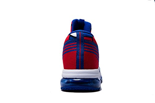 Onemix Chaussures de Sport Running Entraînement Homme Tricoter Coussin d'Air Bleu blanc