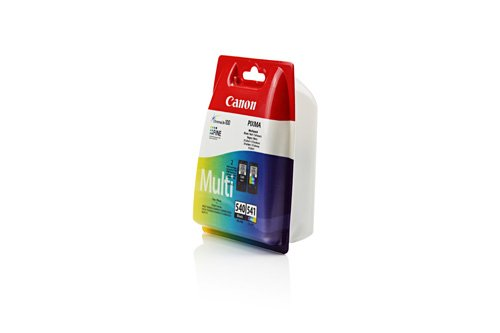 Preisvergleich Produktbild Original Tinte passend für Canon Pixma MG 3500 Series Canon PG-540 / CL-541 5225B006 - 2x Premium Drucker-Patrone - Schwarz, Cyan, Magenta, Gelb - 1x180 & 1x180 Seiten
