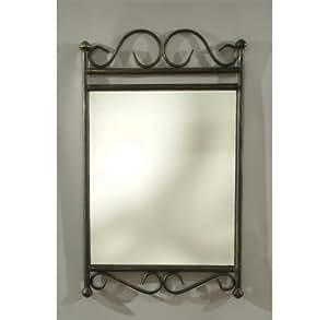 Alsapan - 91487 - Reva - Miroir en Fer Forgé + Verre - 43 x 3 x 70 cm