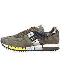Blauer USA Sneakers Donna Melrose in Tessuto e camoscio Verde Militare 8cb7ac68dc5