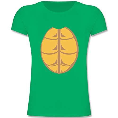 Karneval & Fasching Kinder - Kostüm Schildkröte - 140 (9-11 Jahre) - Grün - F131K - Mädchen Kinder T-Shirt