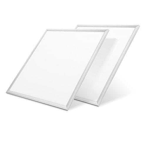 LVWIT 2x Panel LED 60x60cm - 48W equivalente a 400W, 4400 lúmenes, Color blanco frío 6000K - Pack de 2 Unidades.