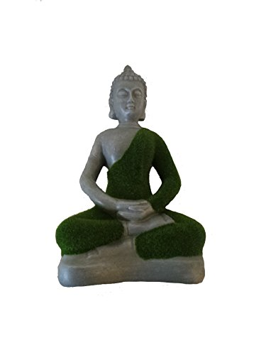 la-hacienda-medium-flocked-buddha-grass-ornament