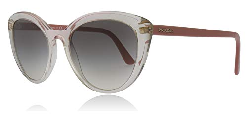 Prada PR02VS 326130 Brown / Pink PR02VS Cats Eyes Sunglasses Lens Category 2 Size 54mm