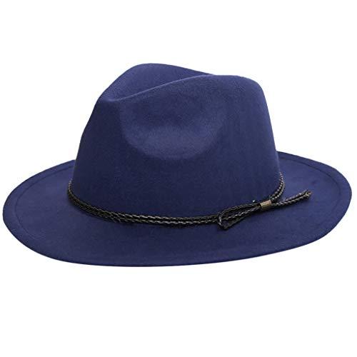 2019 nuovo uomo donna moda casual faux wool cappello a tesa larga morbido con cintura by wudube