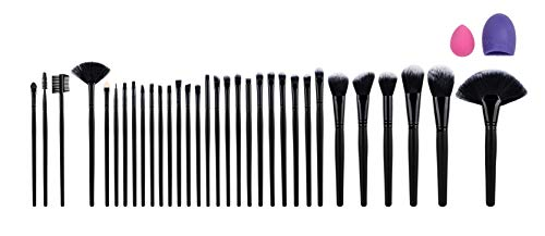 AMASAVA Make Up Pinsel Set, 32 pcs Professionelle Kosmetikpinsel Schminkpinsel Set mit Roll up...