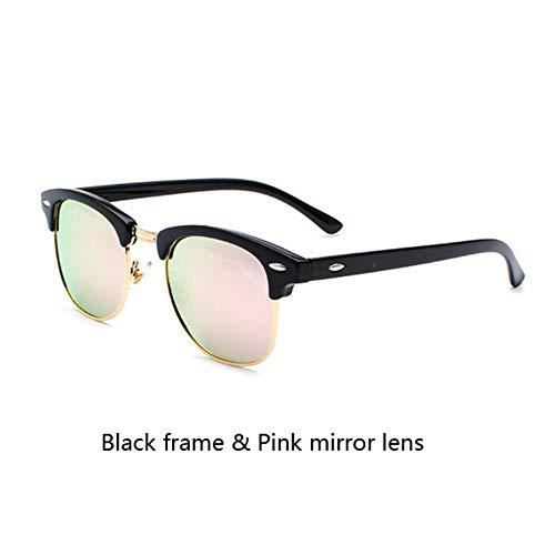 Sonnenbrillen. Klassische Marke Polarisierte Sonnenbrillen Männer Frauen Die Hälfte Metall Spiegel Unisex Sonnenbrille Uv400 Outdoor Reisen Sommer Staub Schwarz Rosa