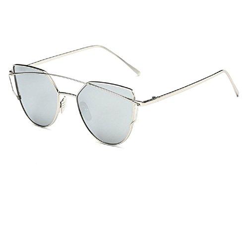 O-C Damen Sonnenbrille Silber Silver frame, silver lens