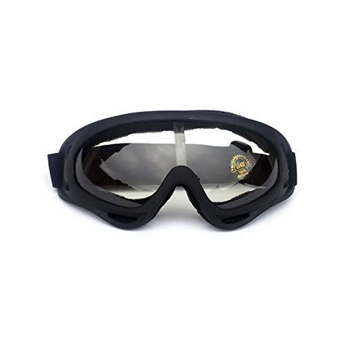 (Daesar Sportbrille Herren Unisex Skibrille Schutzbrille Winddicht Outdoor Schwarz Durchsichtig)