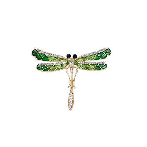 Libelle Vintage-kleidung (Tinksky Strass Libelle Brosche für Kleidung Dekoration)