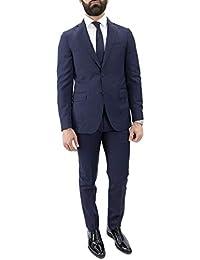 cb6a69e70dce Abito da Uomo Estivo Elegante in Fresco Lana Modello Monopetto vestibilità  Slim Fit Fantasia Quadri