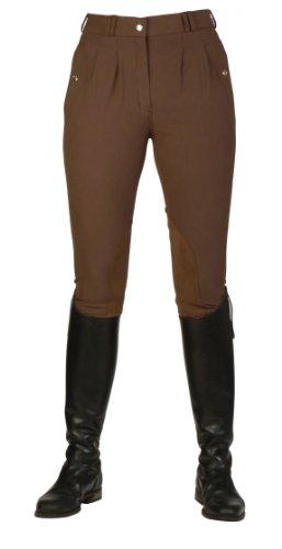 Mark Todd Kaikaura Pantalon d'équitation plissé pour femme café