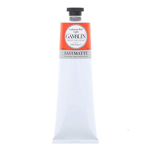 Gamblin Cadmium Red Light (Gamblin Artist Paint, FastMatte Alkyd Colors, Fast Drying Oil Paint, Cadmium Red Light, 150ml Tube)