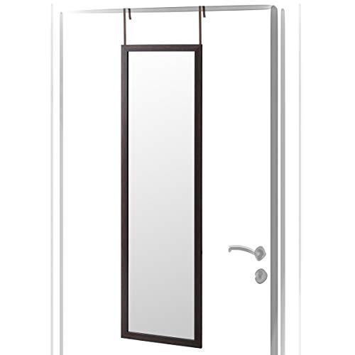 Espejo de Puerta marrón de plástico Moderno para Dormitorio de 35 x 125 cm Bretaña - LOLAhome