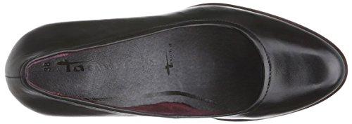 Tamaris 22425, Chaussures à talons - Avant du pieds couvert femme Noir - Schwarz (Black Leather 003)