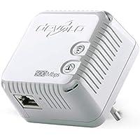 Devolo 9077 dLAN 500 WiFi, Prise Réseau CPL WiFi (500 Mbit/s, 1x Adaptateur, 2x Ports Fast Ethernet, Amplificateur WiFi, Augmenter Portée Wifi, Courant Porteur,WiFi Move) - Module Complémentaire, Blanc