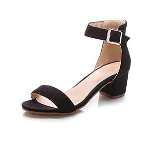 Women High Heel Sandals Women Open Peep Toe Shoes Womens Lady Suede Leather Brand Shoes,Black,6