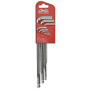 ATHLET-Qualitätswerkzeuge Satz Stiftschlüssel 9-teilig im Steckhalter, Inhalt: Artikel Nummer 55 SW 1,5-2-2,5-3-4-5-6-8-10 mm, 41 Größe 4