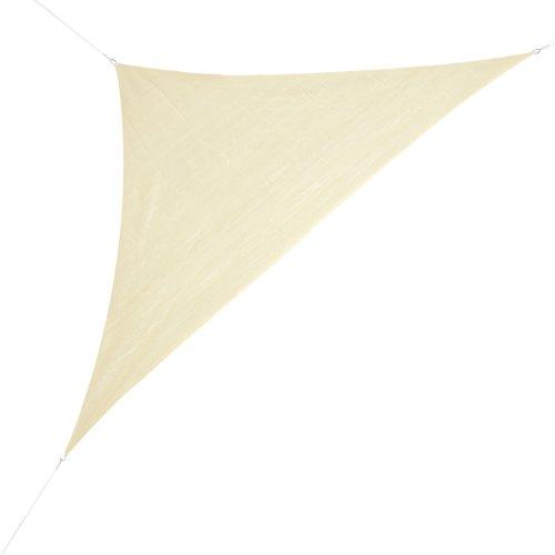 Corasol COR10RA5-SB Premium Sonnensegel 5 x 5 x 7 m, 90 Grad Dreieck, sandbeige