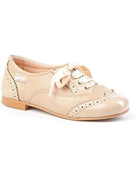 Zapatos Blucher en Charol para Niñas Todo Piel mod.1397. Calzado Infantil Made in Spain, Garantia de Calidad.