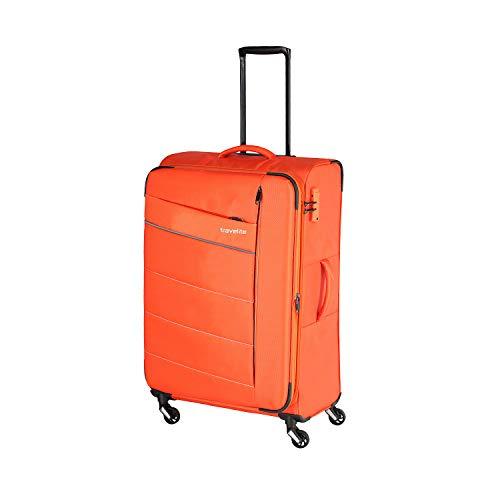 """Travelite Extrem leicht: """"KITE"""" - sportlich-klassische Trolleys, Trolley-Reisetaschen und Bordtaschen Koffer, 75 cm, 95L, Orange"""