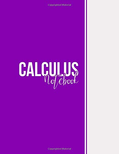 Calculus Notebook: Squared Graph Paper Notebook Math, Large(8.5 x 11 inches), 112 pages, Matte, Purple