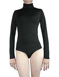 Muse Thermo Body Damen Langarm Rollkragen Thermobody elastisch l Bodysuit Top vielen Farben Größe S M L
