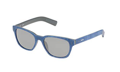 Sting ss6539 occhiali da sole, argento (shiny jeans), taglia unica uomo