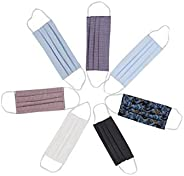 Mediweave Reusable 100% Cotton Cloth Face Mask with Non-Woven Filter Mix Color (Pack of 7)