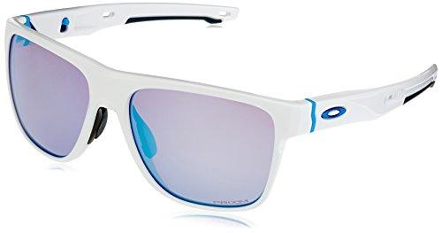 Oakley Herren Crossrange XL 936008 58 Sonnenbrille, Weiß (Polished White/Prizmsapphiresnow)