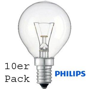 10er Pack Philips TROPFEN/ball 40W klar E14 SINGLE von Philips - Lampenhans.de