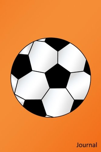 Journal: Orange soccer ball notebook por Brothergravydesigns