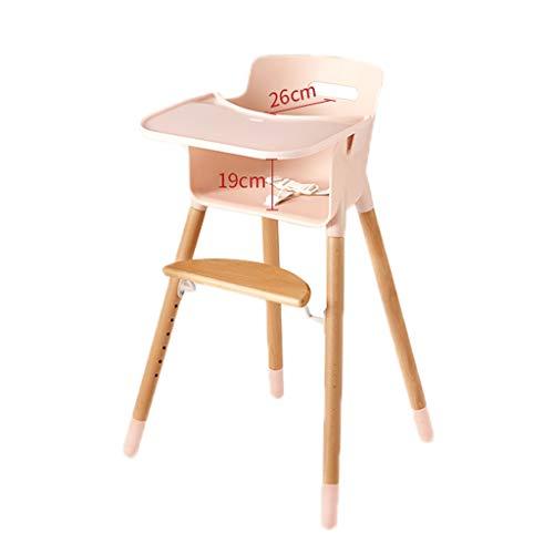 Kinderhochstuhl, Unisex Cabrio Massivholz Multifunktions Eat Play Lernen Sie Baby-Tisch Für Kleinkind Komfortable Hochsitz-Kleinkind für Zuhause für 0-4 Jahre (Farbe : C)