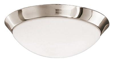 Lampenlux Deckenleuchte Deckenlampe Badlampe Badleuchte Leuchte Lampe Küchenleuchte Ø28cm nickel satiniert von Lampenlux auf Lampenhans.de