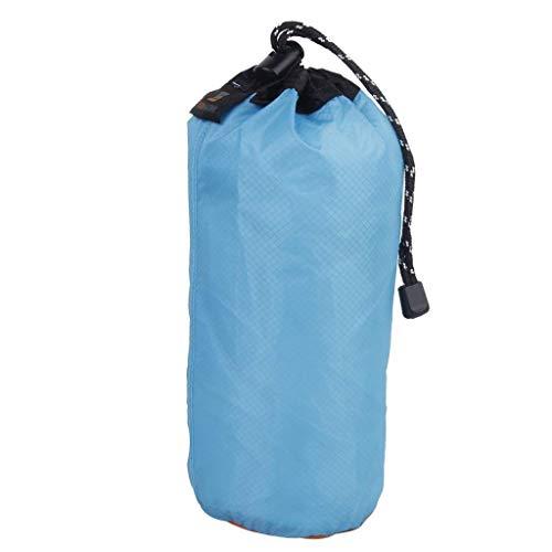 Yundxi 2PCS ultraleggero in nylon impermeabile sacchi set cordino sacco sacca da viaggio campeggio escursionismo, Blue S(2L)