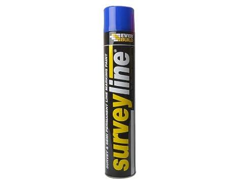 Everbuild SURVEYBL Surveyline Marker Spray 700 ml - Blue