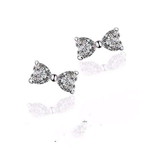 MTWTM Bow Tie Ohrringe Fashion Ohrringe Süß Niedlich Frisch Diamond (Dreieck Bow Tie)