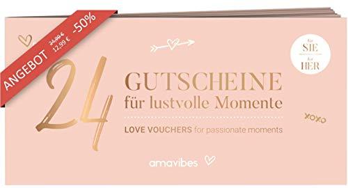 Premium Liebes Gutscheinheft für Frauen: 24 Liebesgutscheine, perfekt als Adventskalender, Partner-Geschenk für Freundin, für mehr Spaß und Liebe