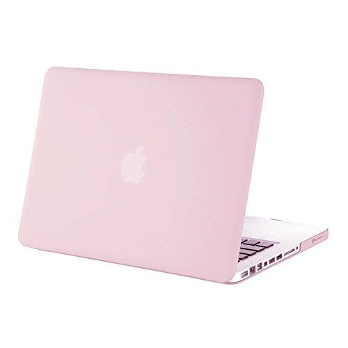 MOSISO MacBook Pro 13 Custodia Copertina (Non-Retina) - Plastica Custodia Rigida Caso Solo per Vecchio MacBook Pro 13 Pollici con CD-ROM (Modello: A1278, Versione anticipata 2012/2011/2010/2009/2008), Quarzo Rosa