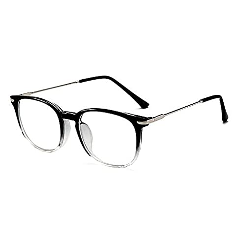 Skitic Anti Radiation Glasses Anti-Reflective Anti-Glare Blue Light Filter Block UV Protection Computer Glasses, Anti Eye Fatigue Eyewear Transparent Clear Lens Blocking Headaches Eye Strain, Reading Eyeglasses - Black with
