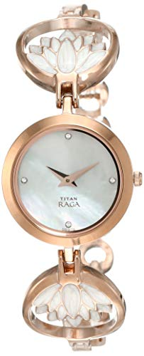 1. Titan Raga Analog Mother of Pearl Dial Watch