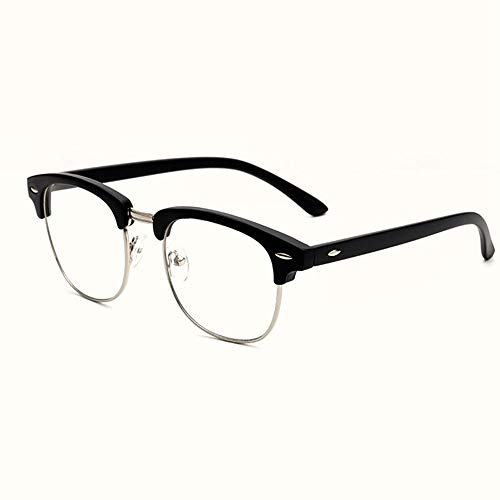 XCYQ Brillengestell AugenglasrahmenArt UndWeise Frauen Halbrahmen Brillen Vintage -Männer Optischer Rahmen, B
